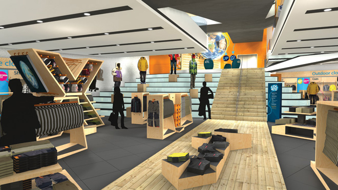 Discovery expedition retail store concept design retail for Retail store layout software